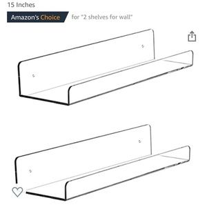 Other - (2) Invisible Acrylic Floating Wall Ledge Shelves